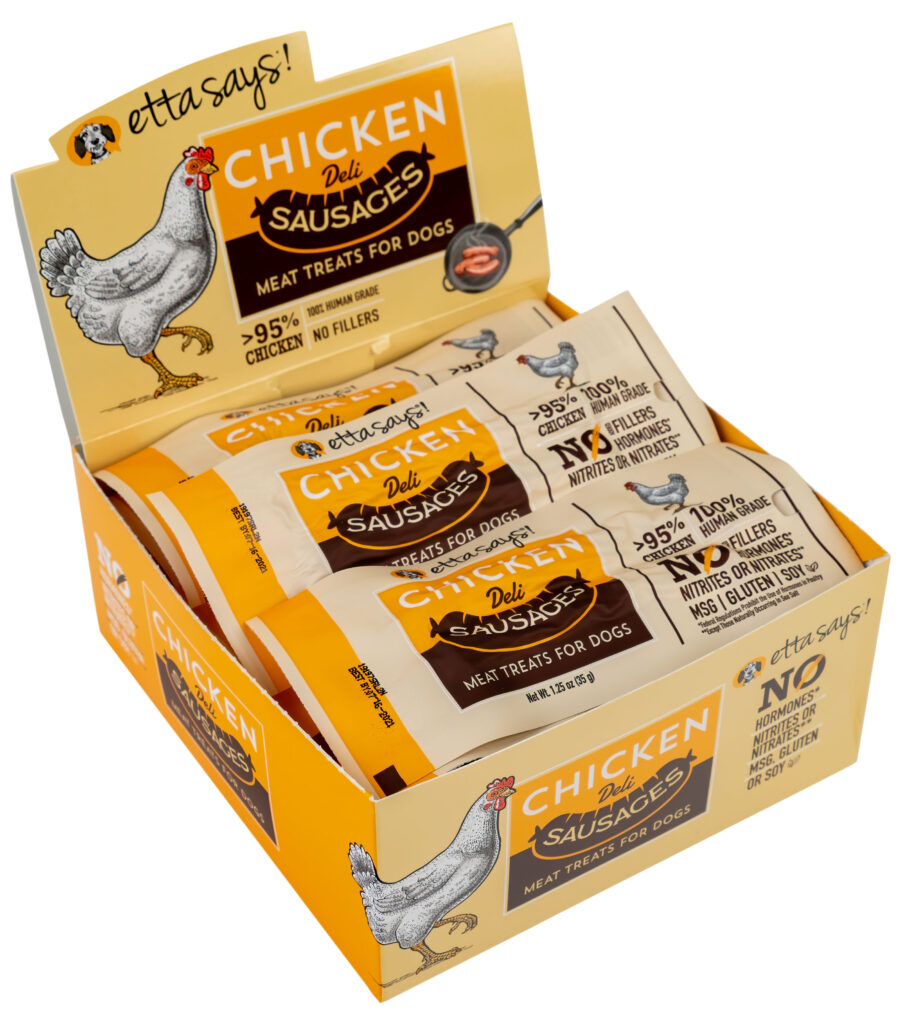 An image of Treat Planet - Etta Says! Sausage Link, Chicken - 1.25oz - 12 per display box