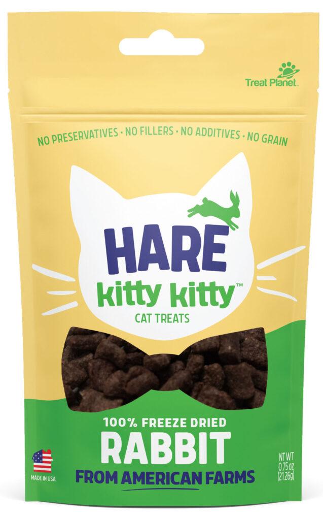 An image of Treat Planet - Hare Kitty Kitty 100% Freeze Dried Rabbit Treat - wt 0.9oz