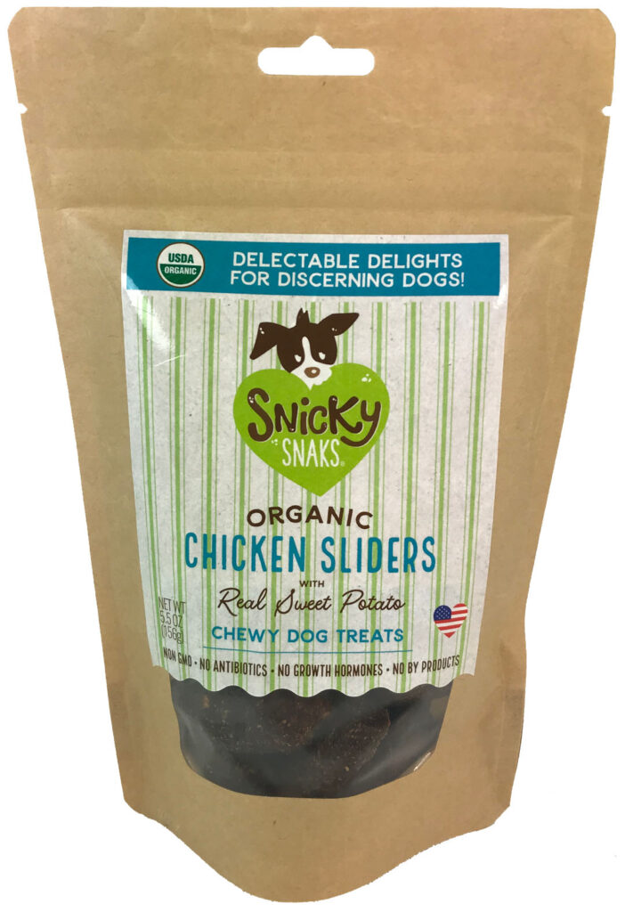 An image of Treat Planet - Snicky Snaks USDA Organic Chicken Sliders with Real Sweet Potato, wt 5.5oz
