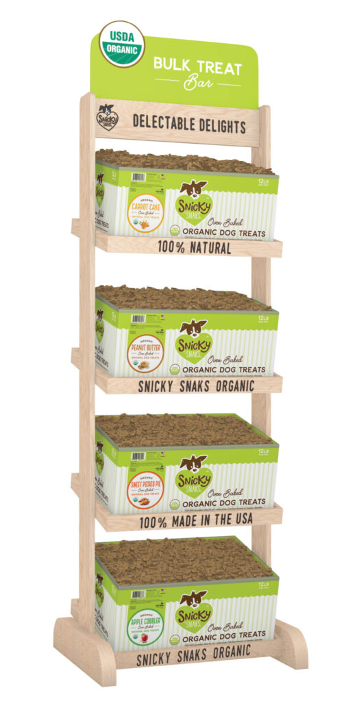 An image of Treat Planet - Snicky Snaks Organic Treat Bar - Display + 1 box of each flavor 12 lb. bulk