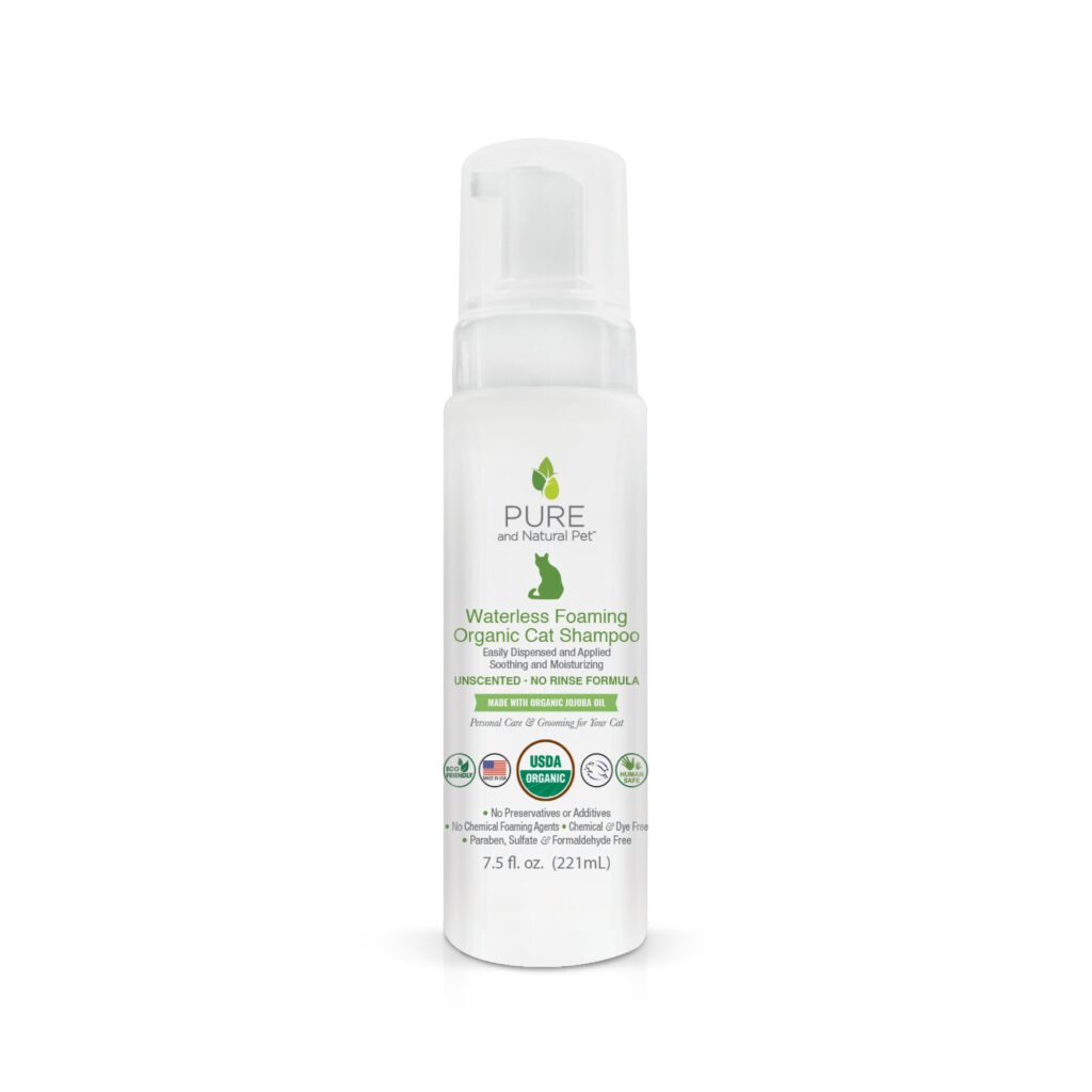 An image of Pure and Natural Pet® - Waterless Foaming Organic Cat Shampoo (Unscented)