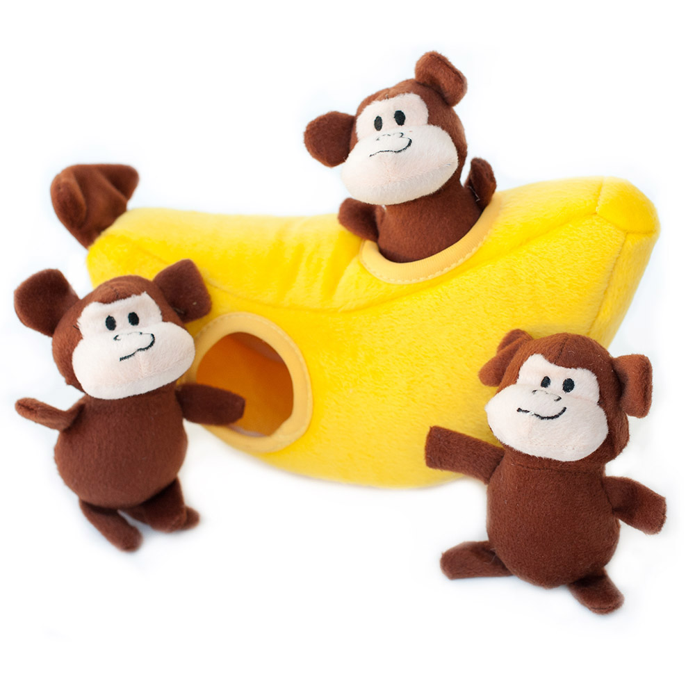 An image of ZippyPaws - ZP229 Zippy Burrow - Monkey 'n Banana