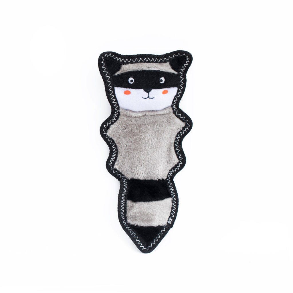 An image of ZippyPaws - ZP881 Z-Stitch® Skinny Peltz - Raccoon