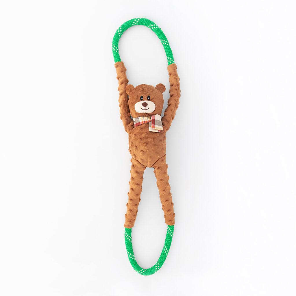 An image of ZippyPaws – ZP955 RopeTugz® – Bear