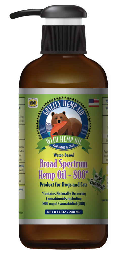 An image of Grizzly Pet Products - Grizzly Hemp Aid - Broad Spectrum (8 oz)