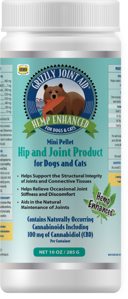 An image of Grizzly Pet Products – Grizzly Joint Aid Hemp Enhanced Pellet (10 oz)