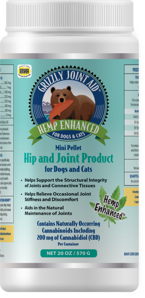 An image of Grizzly Pet Products - Grizzly Joint Aid Hemp Enhanced Pellet (20 oz)