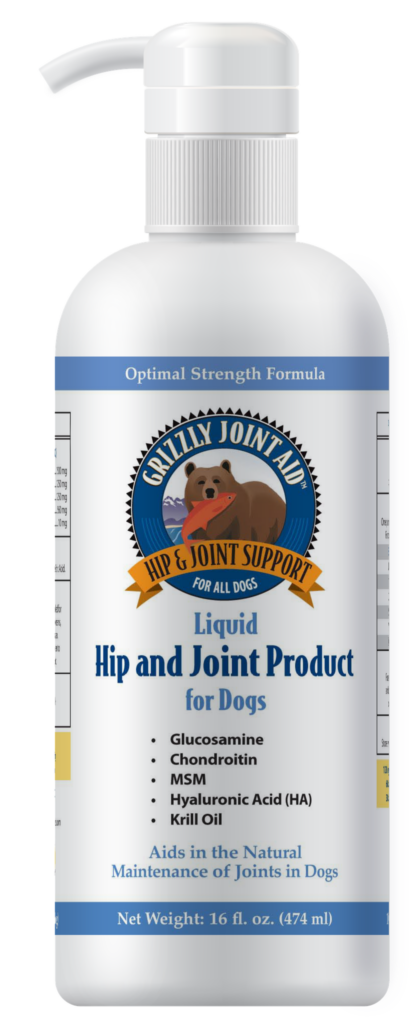 An image of Grizzly Pet Products - Grizzly Joint Aid Liquid (16 oz)