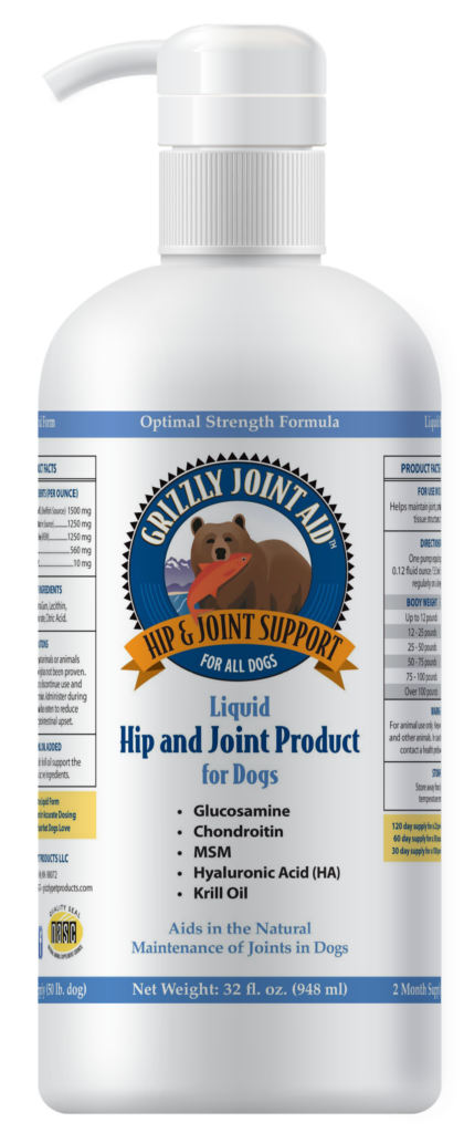 An image of Grizzly Pet Products - Grizzly Joint Aid Liquid (32 oz)