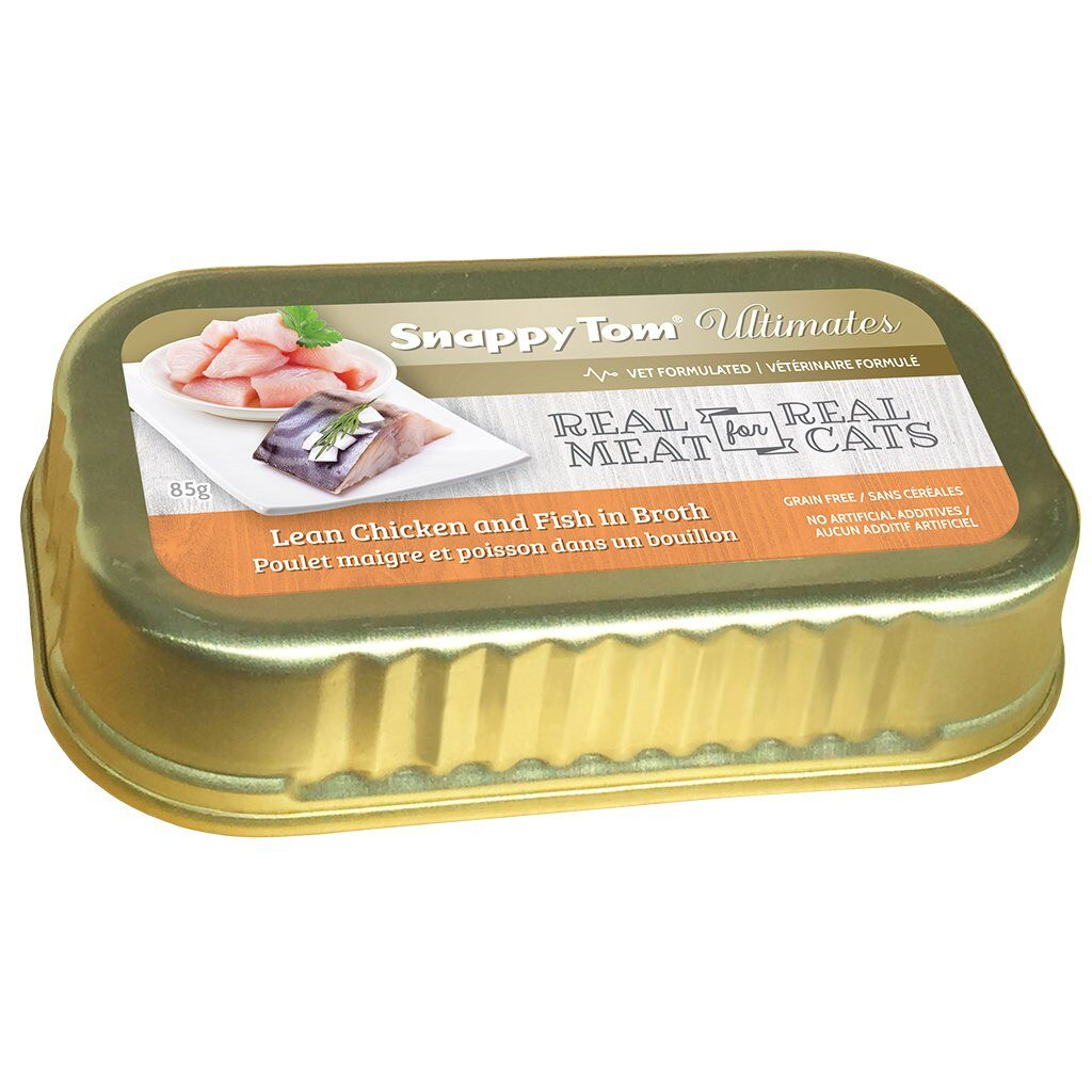 An image of Snappy Tom Pet Supply - Snappy Tom Ultimates Lean Chicken and Fish in Broth
