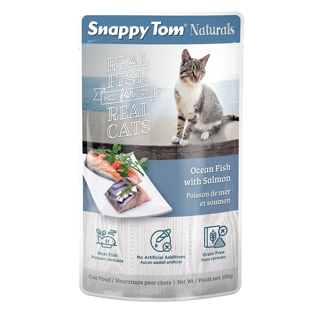 An image of Snappy Tom Pet Supply - Snappy Tom Naturals Ocean Fish with Salmon