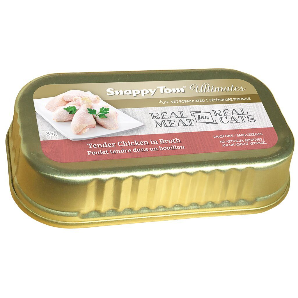 An image of Snappy Tom Pet Supply - Snappy Tom Ultimates Tender Chicken in Broth