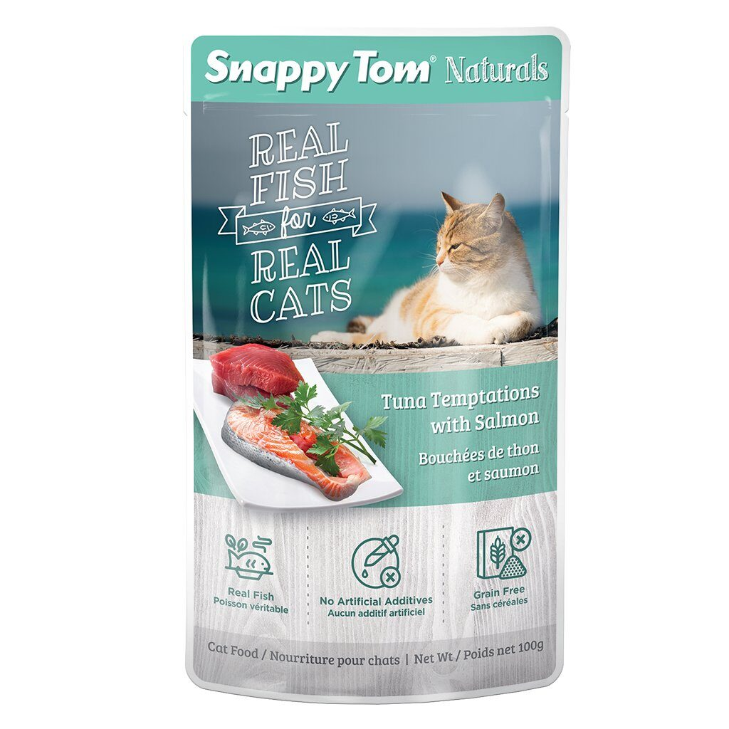 An image of Snappy Tom Pet Supply - Snappy Tom Naturals Tuna Temptations with Salmon