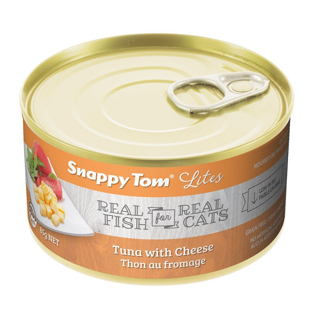 An image of Snappy Tom Pet Supply - Snappy Tom Lites Tuna with Cheese