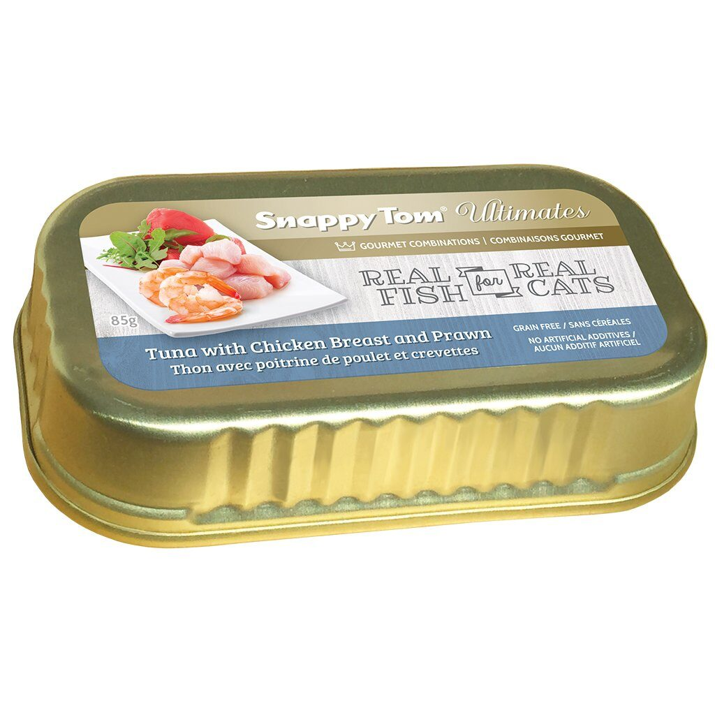 An image of Snappy Tom Pet Supply - Snappy Tom Ultimates Tuna with Chicken Breast and Prawn