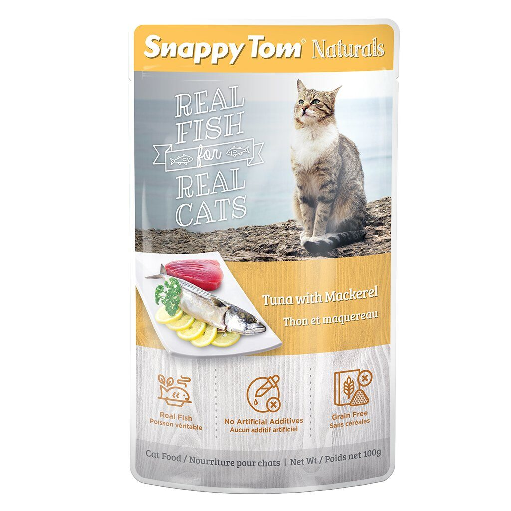 An image of Snappy Tom Pet Supply - Snappy Tom Naturals Tuna with Mackerel