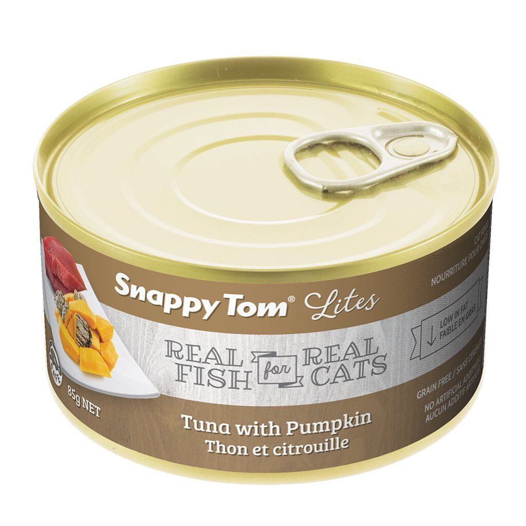 An image of Snappy Tom Pet Supply - Snappy Tom Lites Tuna with Pumpkin