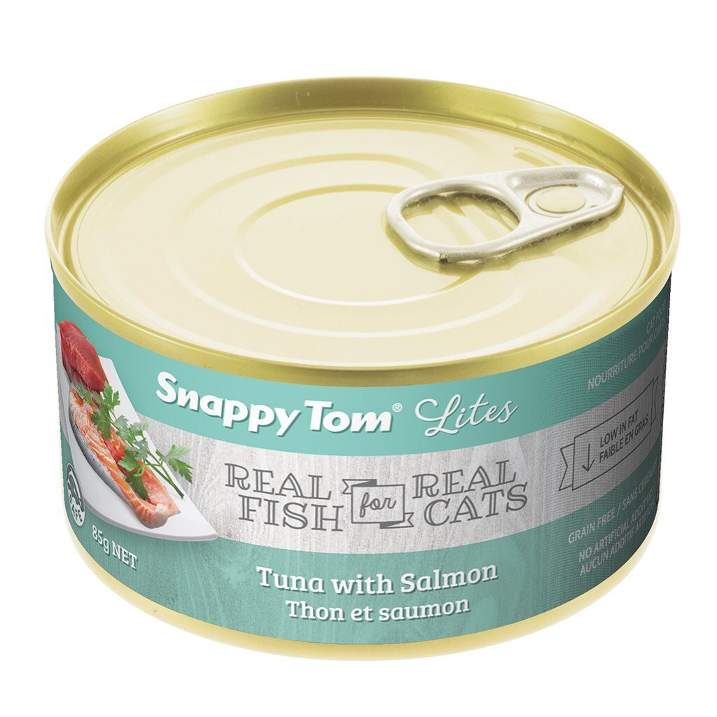An image of Snappy Tom Pet Supply - Snappy Tom Lites Tuna with Salmon
