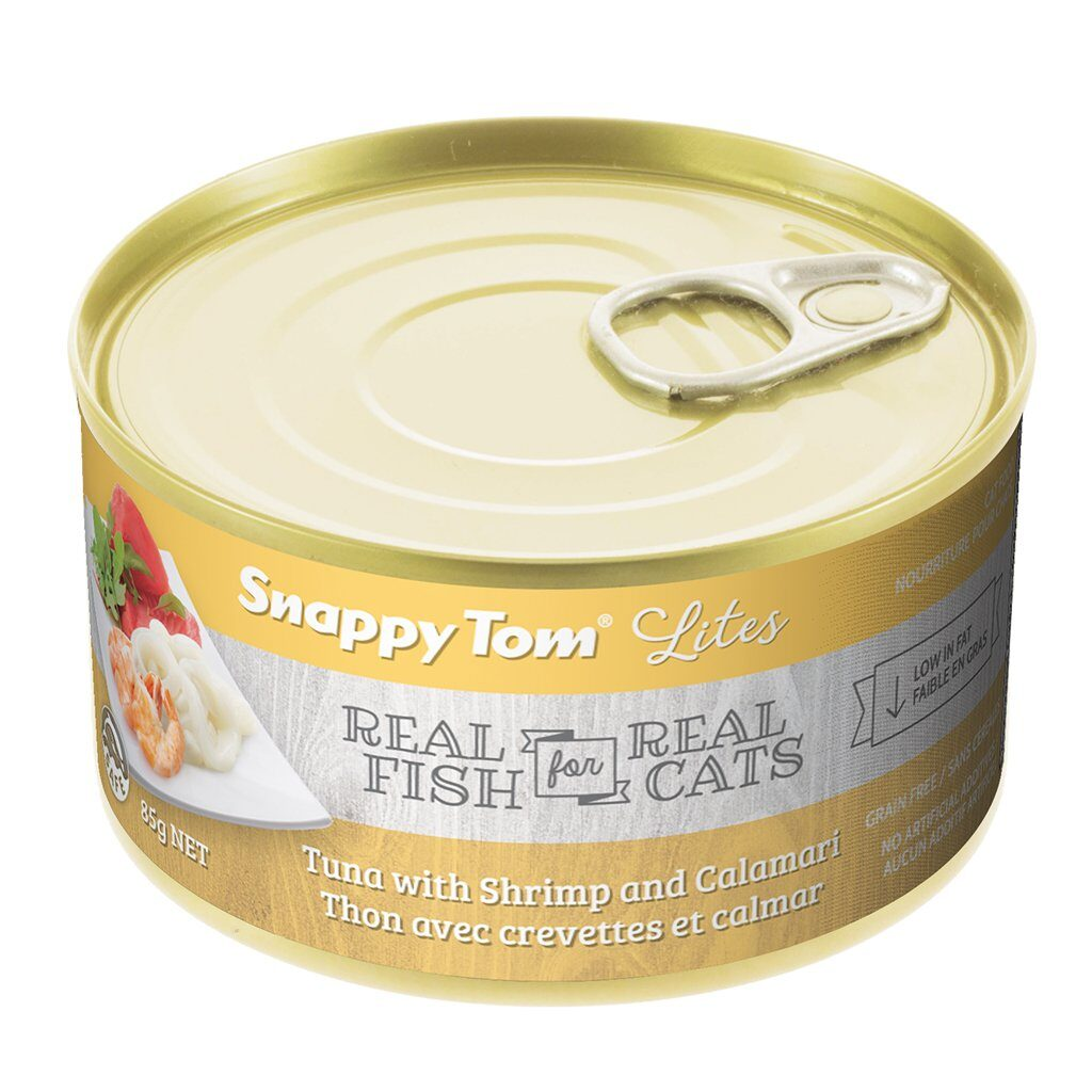 An image of Snappy Tom Pet Supply - Snappy Tom Lites Tuna with Shrimp and Calamari