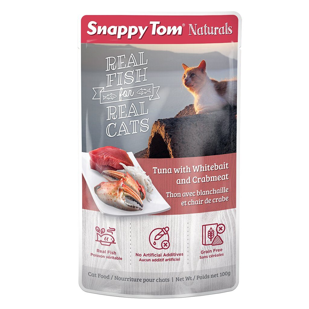 An image of Snappy Tom Pet Supply - Snappy Tom Naturals Tuna with Whitebait and Crabmeat
