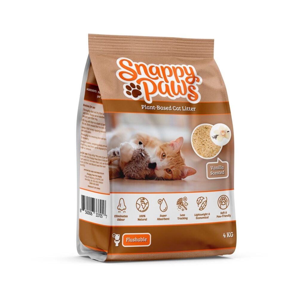 An image of Snappy Tom Pet Supply - Snappy Paws Plant Based Cat Litter (Vanilla Scent)