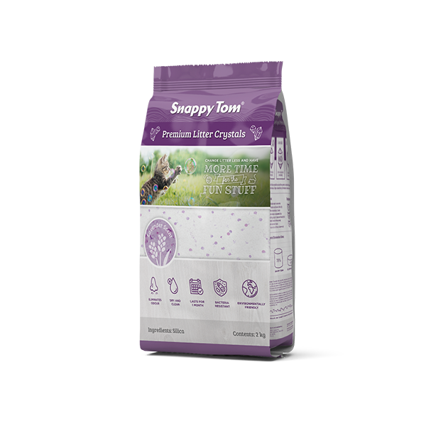 An image of Snappy Tom Pet Supply - Snappy Tom Crystal Cat Litter (Lavender Scent)