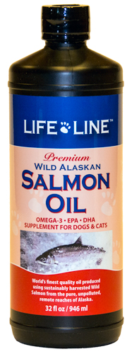 An image of Life Line Pet Nutrition, Inc – WILD ALASKAN SALMON OIL 32 OZ – 30032