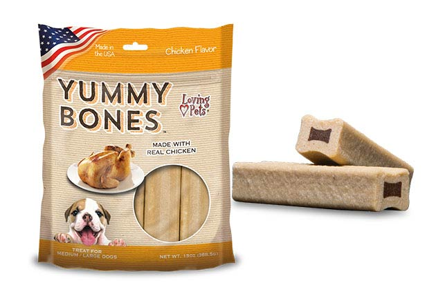 An image of Loving Pets - Yummy Bones Chicken Flavor (13 oz. Bag)