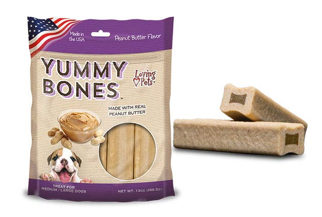 An image of Loving Pets - Yummy Bones Peanut Butter Flavor (13 oz. Bag)
