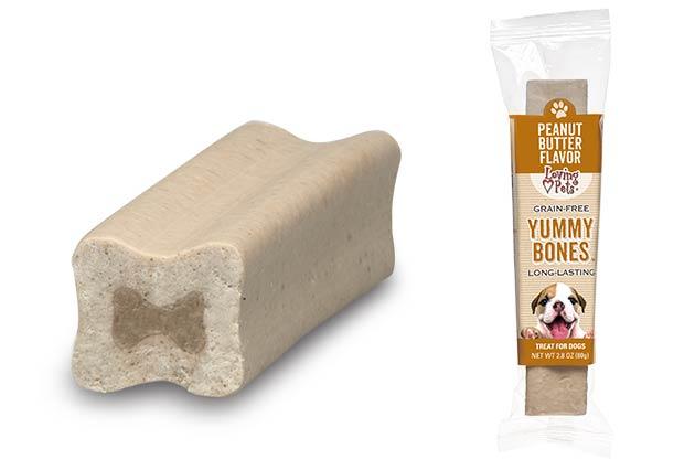 An image of Loving Pets - Yummy Bones Singles - Peanut Butter Flavor (1 Piece)