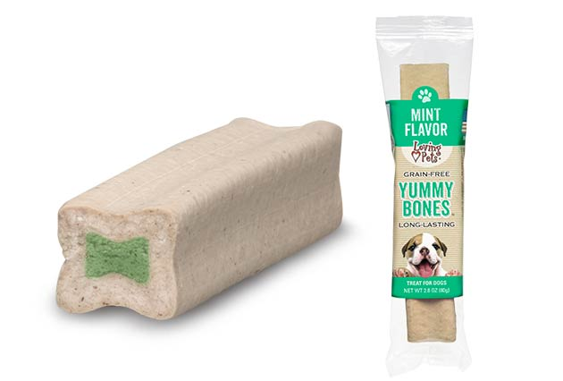 An image of Loving Pets - Yummy Bones Singles - Mint Flavor (1 Piece)