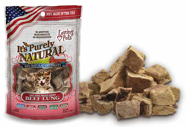 An image of Loving Pets - It's Purely Natural Beef Lung Treats