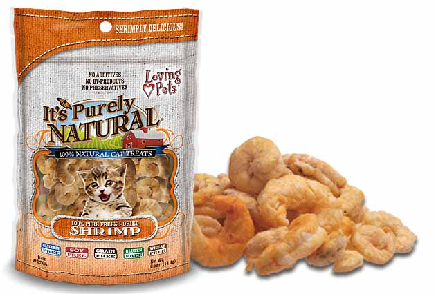 An image of Loving Pets - It's Purely Natural Freeze Dried Shrimp Treats