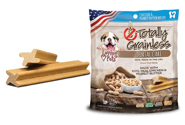 An image of Loving Pets - Totally Grainless Peanut Butter Chicken Dental Sticks