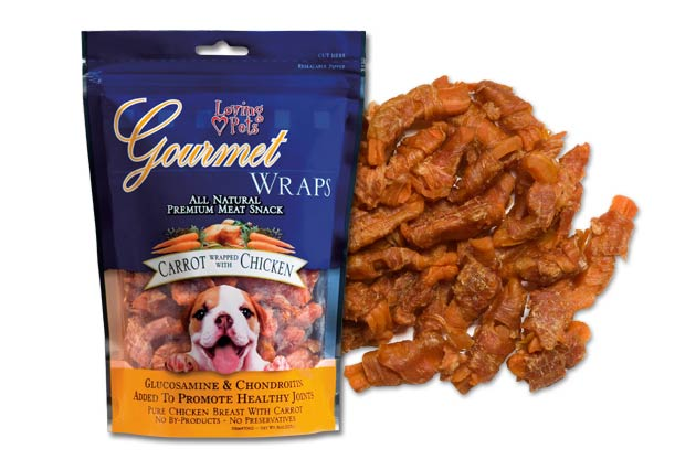 An image of Loving Pets – Gourmet Carrot & Chicken Wraps