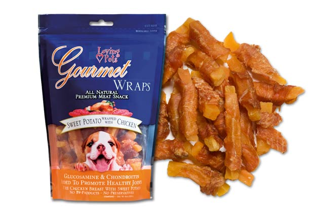 An image of Loving Pets – Gourmet Sweet Potato & Chicken Wraps