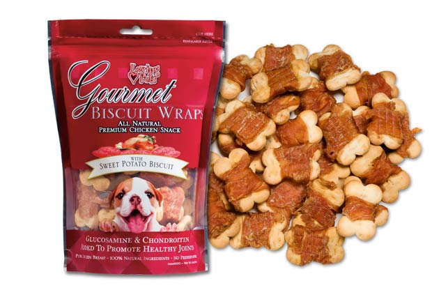 An image of Loving Pets – Gourmet Sweet Potato Biscuit & Chicken Wraps