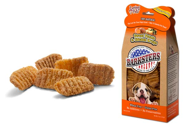 An image of Loving Pets - 5 oz. Barksters Sweet Potato & Chicken