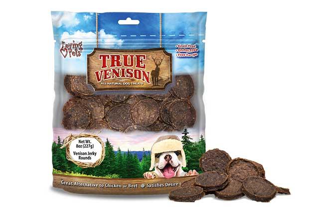 An image of Loving Pets - True Venison Jerky Rounds