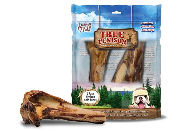 An image of Loving Pets - True Venison Shin Bones (2 Pack)