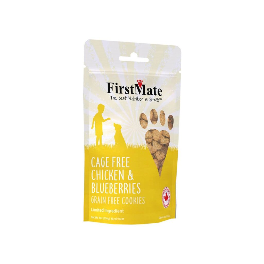 An image of FirstMate Pet Foods – *BULK* FirstMate Chicken with Blueberry Treats for Dogs 10lb