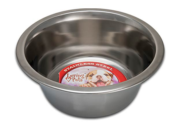An image of Loving Pets – Ruff N' Tuff Traditional Stainless Dish