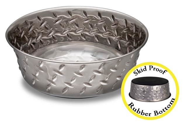 An image of Loving Pets – Diamond Plate Cat Bowl