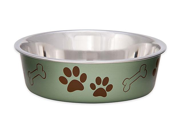 An image of Loving Pets - Metallic Bella Bowl Artichoke