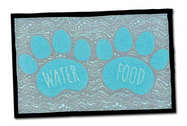 An image of Loving Pets - Food and Water Fashion Mat