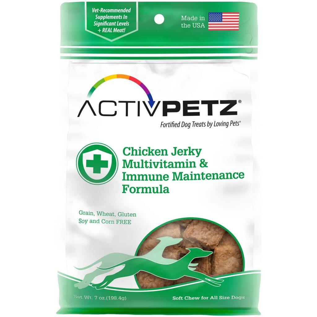 An image of Loving Pets - Activpetz Chicken Jerky Multivitamin & Immune Maintenance Formula
