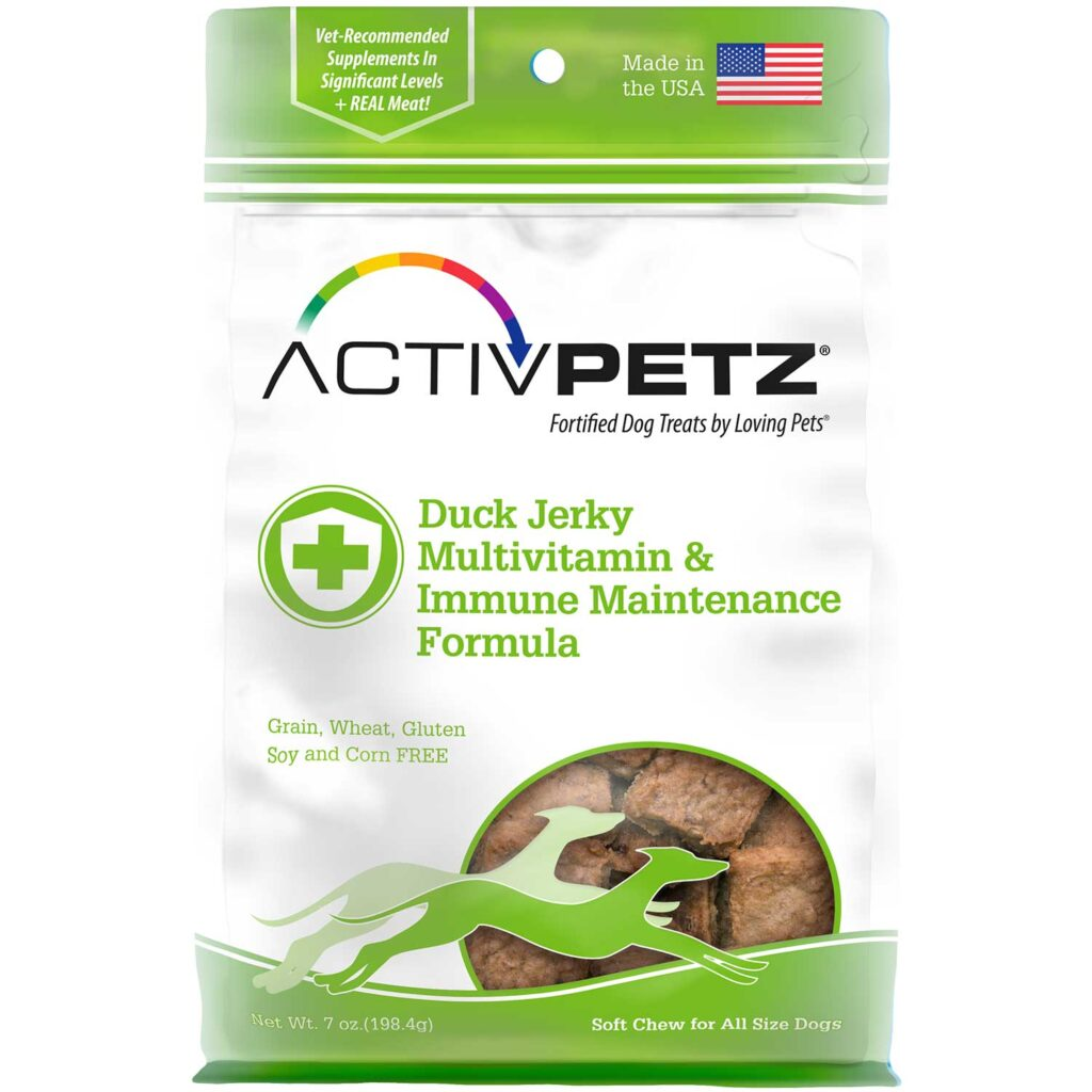 An image of Loving Pets – Activpetz Duck Jerky Multivitamin & Immune Maintenance Formula