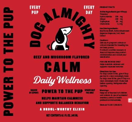 An image of Guardian Pet Food Company - Dog Almighty Elixir Calm Beef & Mushroom 24pk