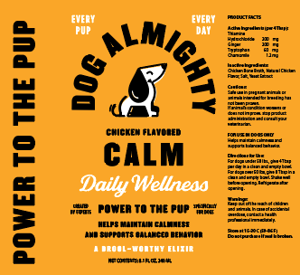 An image of Guardian Pet Food Company – Dog Almighty Elixir Calm Chicken 24pk