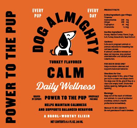 An image of Guardian Pet Food Company - Dog Almighty Elixir Calm Turkey 24pk